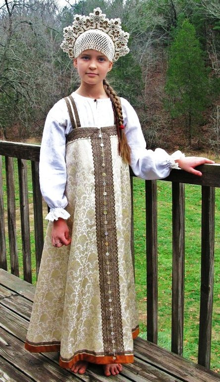 Russian girl in traditional costume